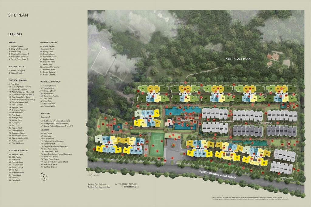 Kent-Ridge Hill Residences Site Plan Singapore
